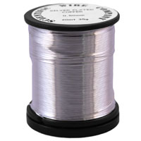 35g Reel 0.2mm NT Silver Plated Copper Craft Wire (125m)