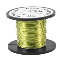 50 x 25m Reel 0.5mm 3123 Supa Green-Chartreuse Craft Wire