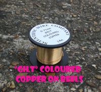 50x 175 Metre Reels 0.200mm GILT Coloured Copper Wire